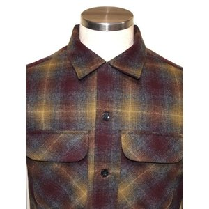 PENDLETON ペンドルトン BOARD Fitted オンブレ チェック シャツ Maroon X Bronze Ombre|chambray-store