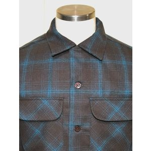 PENDLETON ペンドルトン BOARD Fitted オンブレ チェック シャツ Brown X Turquoise Ombre *SOLD OUT|chambray-store