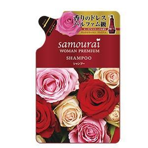 サムライウーマンプレミアム シャンプー  詰め替用 370ml(ノンシリコン)(バラの香り)|champion-drug