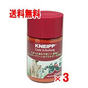 【送料無料】クナイプ バスソルト グリーン&ワコルダーの香り  850g×3個セット|champion-drug