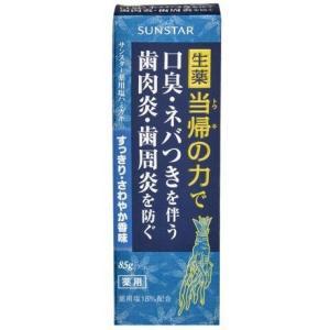 サンスター 薬用塩ハミガキ(当帰の力)すっきりさわやか香味 85g|champion-drug