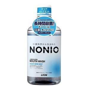 【LION】 【NONIO】 ノニオ マウスウォッシュ クリアハーブミント 600ml|champion-drug