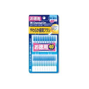 小林製薬 糸ようじやわらか歯間ブラシSS・Mサイズ お徳用40本入|champion-drug