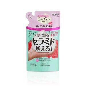 (ロート製薬)ケアセラ 泡の高保湿ボディウォッシュ フルーティーローズの香り 詰替 350ml|champion-drug