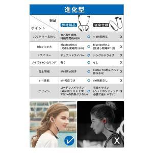 令和進化版 Bluetooth5.0 16時間連続再生 Bluetooth イヤホン IPX6防水 スポーツ デュアルドライバー 高音質 重|chan-gaba