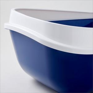 modernaproducts 猫用トイレ本体 メガトレー 本体 ブルーベリー 猫用トイレ 本体 大きい猫 大きいトイレ ゆったり広々サイズ|chan-gaba