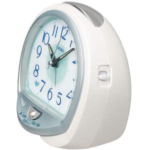 セイコークロック 白パール 13×14×9.6cm 置き時計 目覚まし時計 卓上時計 テーブルクロック アナログ QM748W|chan-gaba