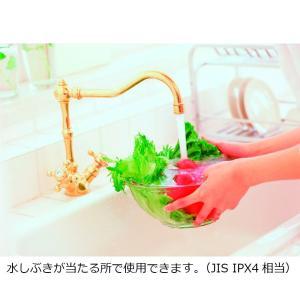 セイコー クロック 掛け時計 置き時計 兼用 生活防水 タイマー 温度 表示 アナログ キッチン&バス 白 BZ358W SEIKO|chan-gaba
