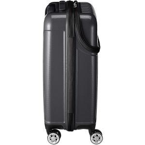 アクタス スーツケース ジッパー トップオープン トップス 機内持ち込み 74-20310 33L 53.5 cm 3.2kg ブラックカー|chan-gaba
