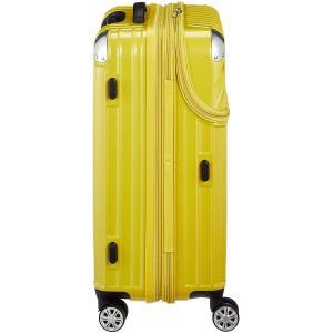 トラベリスト スーツケース ジッパー トップオープン モーメント 拡張機能付き 61L 64 cm 4.3kg イエローカーボン|chan-gaba