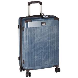 リー スーツケース 超軽量双輪 表面デニム調 内装ペイズリー柄 22インチ TSAロック 50L 56 cm 3.7kg ネイビー|chan-gaba