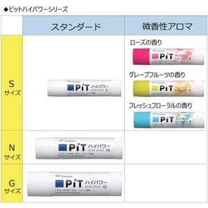 トンボ鉛筆 スティックのり ピットハイパワー S アロマ グレープフルーツ 10個 PT-TPK02-10P|chan-gaba