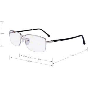 (レンサン) LianSan 老眼鏡 ユニセックス メタル 累進多焦点 遠近両用 メガネ 読書 ブルーライト カット ポケット オーバル L|chan-gaba