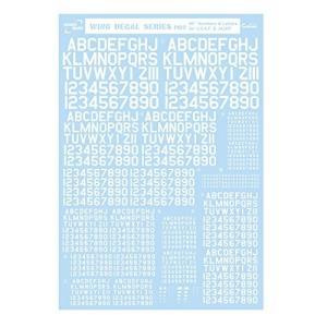 サンコーマーク工業 M02 45度 Numbers&Letters 白 13.5×19.5cm レプトジーダ WING DECAL SERI|chan-gaba