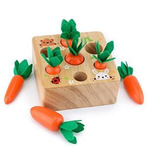 木玩社のニンジンボードゲーム 木製ニンジンおもちゃ 木製玩具 おままごと 空間認識 形状認識 色認識 子供レジャー玩具ギフト プレゼント|chan-gaba