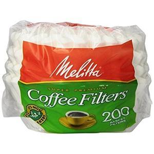 Melitta メリタ 8から12カップ用 バスケットタイプ コーヒーフィルター 200枚 Basket Coffee Filters Wh|chan-gaba