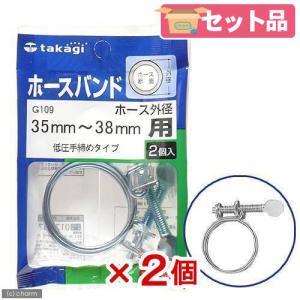 アウトレット タカギ ホースバンド 低圧手締めタイプ 35〜38mm用 G109 2個入り 関東当日便|chanet