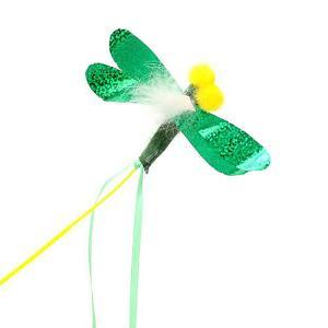 キャティーマン じゃれ猫 ブンブン トンボ 猫じゃらし 猫 猫用おもちゃ ドギーマン 2本入り 関東当日便|chanet