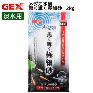 GEX メダカ水景 黒く輝く極細砂 2kg 関東当日便|chanet