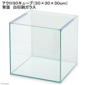 バックプリント WHITE アクロ30キューブN(30×30×30cm) 30cmキューブ水槽(単体) Aqullo お一人様1点限り 関東当日便|chanet