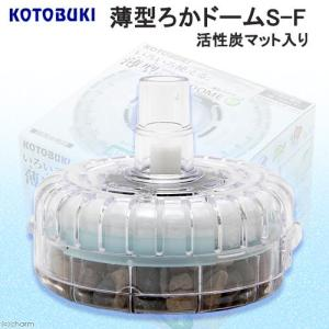メーカー:コトブキ 水位の浅い水槽や金魚鉢でも使える!薄型タイプの投げ込みフィルター!水位が浅くても...