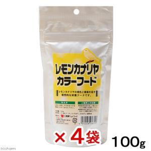 黒瀬ペットフード レモンカナリア カラーフード 100g 鳥 フード エサ 色揚げフード 4袋入り 関東当日便|chanet