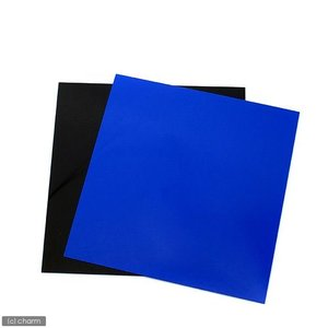 RG−30水槽用 丈夫な塩ビ製バックスクリーン 28.3×27.5cm 青 スカイブルー 関東当日便|chanet