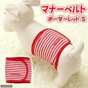 レインボー マナーベルトボーダー レッド S 犬 マーキング防止 おもらし ペット 関東当日便|chanet