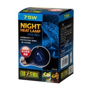 散光型 ナイトグロー ムーンライトランプ 75W(青)2個 爬虫類 保温球