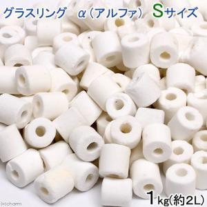 高品質ろ過材 グラスリング α(アルファ) Sサイズ 1Kg(約2L) リング状ろ材 バクテリア 関東当日便|chanet