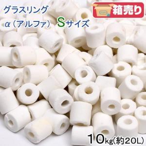 高品質ろ過材 グラスリング α(アルファ) Sサイズ 10Kg(約20L) リング状ろ材 バクテリア 関東当日便|chanet