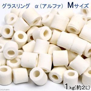 高品質ろ過材 グラスリング α(アルファ)Mサイズ 1Kg(約2L)リング状ろ材 バクテリア お一人様3点限り 関東当日便|chanet
