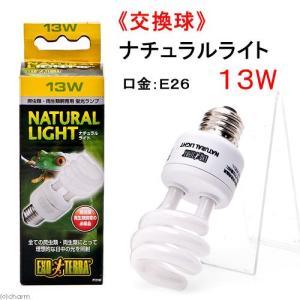 交換球 GEX エキゾテラ ナチュラルライト 13W 爬虫類 ライト 紫外線灯 UV灯