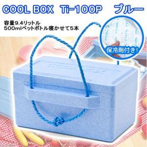 発泡クーラーボックス Ti−100P(380×270×175mm) 保冷剤付き 関東当日便|chanet