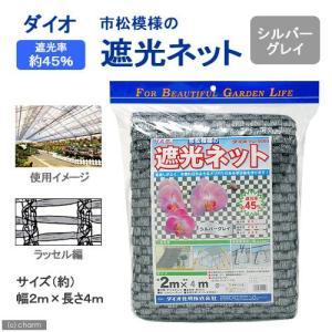 ダイオ 市松模様の遮光ネット シルバーグレイ 2m×4m 関東当日便 chanet