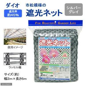 ダイオ 市松模様の遮光ネット シルバーグレイ 2m×6m 関東当日便 chanet