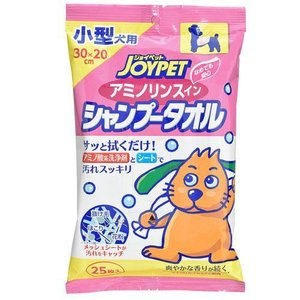 ジョイペット アミノリンスインシャンプータオル 小型犬用 25枚 関東当日便|chanet