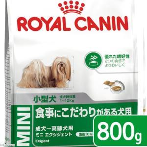 ロイヤルカナン ミニ エクシジェント 成犬・高齢犬用 800g 3182550795128 ジップ付 関東当日便
