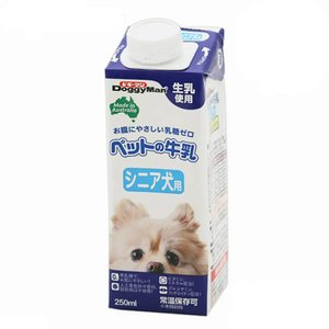 ドギーマン ペットの牛乳 シニア犬用 250ml 24本入り 犬 ミルク|chanet