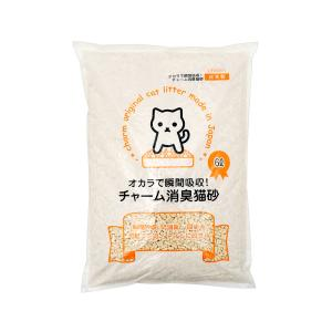 国産猫砂 おからで瞬間吸収 チャーム消臭猫砂 6L 8袋 同梱不可 お一人様1点限り 関東当日便|chanet
