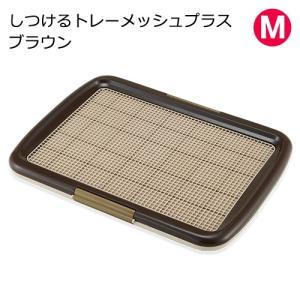しつけるトレーメッシュプラス M ブラウン 犬用トイレ 関東当日便|chanet