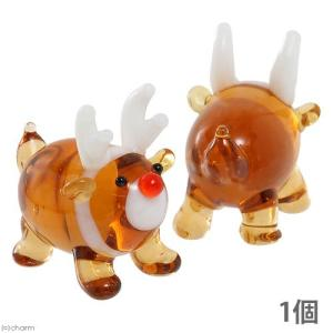 グラスコレクション まんまるトナカイ 1個 クリスマス インテリア ガラス細工
