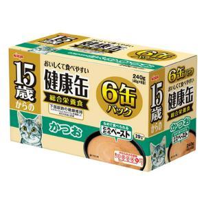 アイシア 15歳からの健康缶 かつお 40g×6P 猫 フード 超高齢猫用 関東当日便