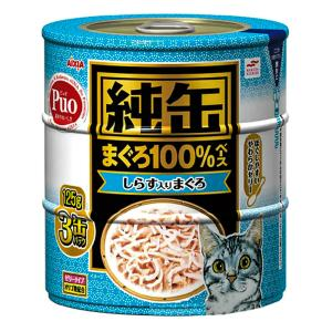 アイシア 純缶 しらす入りまぐろ 125g×3P 猫 フード 関東当日便|chanet