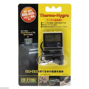 GEX エキゾテラ デジタル温湿度計 取り付け用マジックテープ付き 関東当日便|chanet