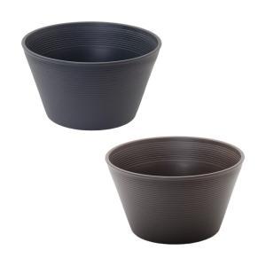 スイレン鉢 2色セット (グレー・ブラウン) 睡蓮 ハス 鉢 関東当日便|chanet