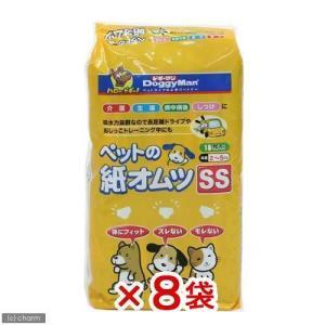 ドギーマン NEWペットの紙オムツSS 18枚入 犬 猫用紙おむつ 8袋 おもらし ペット 関東当日便|chanet
