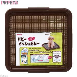 パピーメッシュトレー ブラウン 犬用トイレ 関東当日便|chanet