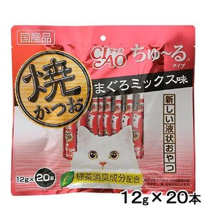 いなば 焼かつお ちゅ〜るタイプ まぐろミックス味 12g×20本 国産 キャットフード おやつ ちゅーる 関東当日便|chanet