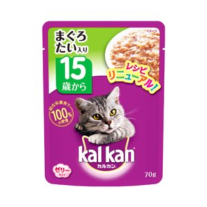 カルカン パウチ ゼリー仕立て 15歳から まぐろとたい 70g キャットフード カルカン 超高齢猫用 関東当日便|chanet